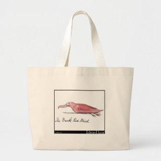 Edward Lear's Dark Red Bird Tote Bag