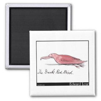 Edward Lear's Dark Red Bird Magnet