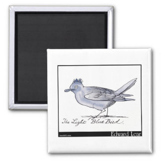 Edward Lear's Light Blue Bird Magnet