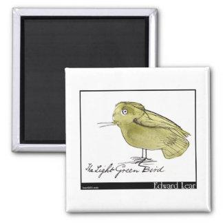 Edward Lear's Light Green Bird Magnet