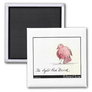 Edward Lear's Light Red Bird Magnet
