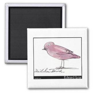 Edward Lear's Lilac Bird Magnet