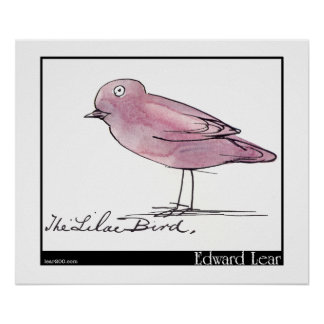 Edward Lear's Lilac Bird Poster