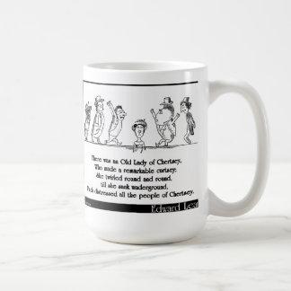 Edward Lear's Old Lady of Chertsey Limerick Coffee Mug