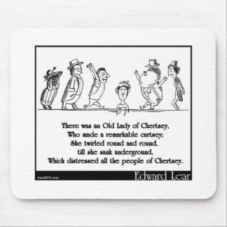 Edward Lear's Old Lady of Chertsey Limerick Mouse Pad