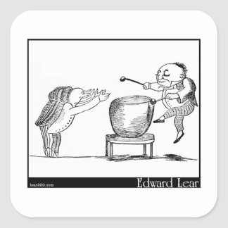 Edward Lear's Old Man with a gong Image Square Sticker