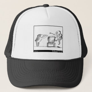 Edward Lear's Old Man with a gong Image Trucker Hat