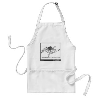 Edward Lear's Old Person of Ischia Image Adult Apron