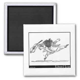Edward Lear's Old Person of Ischia Image 2 Inch Square Magnet
