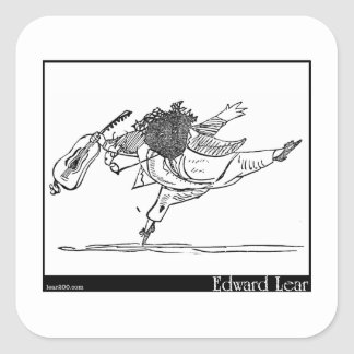 Edward Lear's Old Person of Ischia Image Square Sticker