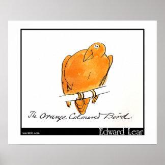 Edward Lear's Orange-Coloured Bird Poster