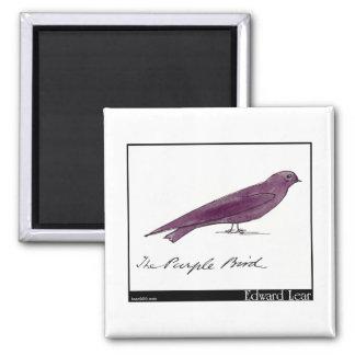 Edward Lear's Purple Bird Magnet