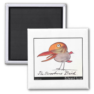 Edward Lear's Scroobious Bird Magnet