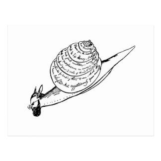 Edward Lear's Snail Mail Postcard