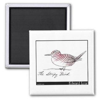Edward Lear's Stripy Bird Magnet