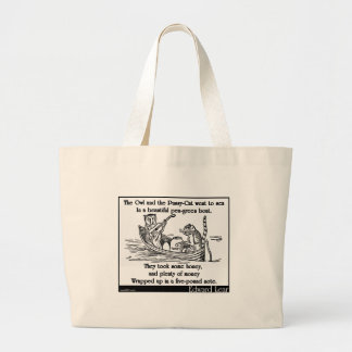 Edward Lear's The Owl and the Pussy-Cat Tote Bags