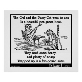 Edward Lear's The Owl and the Pussy-Cat Poster