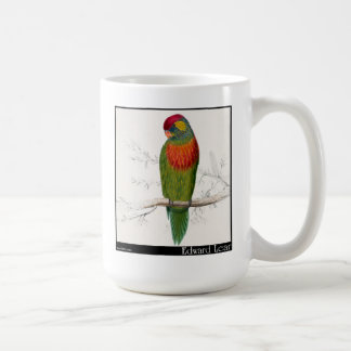 Edward Lear's Variegated Parakeet Coffee Mug
