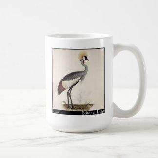 Edward Lear's Wattled Crown Crane Coffee Mug