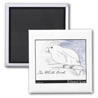 Edward Lear's White Bird Magnet