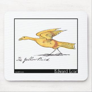 Edward Lear's Yellow Bird Mouse Pad