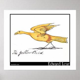 Edward Lear's Yellow Bird Poster