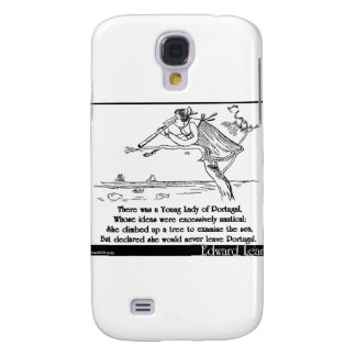 Edward Lear's Young Lady of Portugal Limerick Galaxy S4 Cover