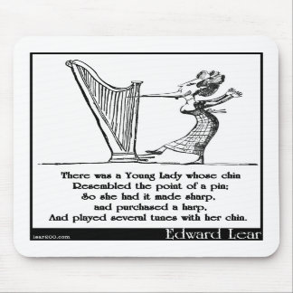 Edward Lear's Young Lady whose chin Limerick Mouse Pads