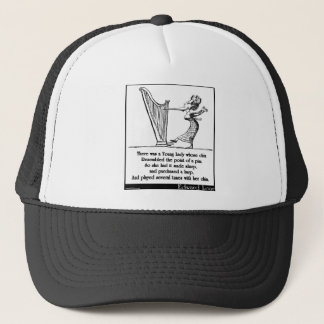 Edward Lear's Young Lady whose chin Limerick Trucker Hat