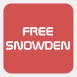 Edward libre Snowden Pegatina Cuadrada