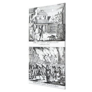 Edward Lowe and his companions setting fire Canvas Print