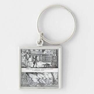Edward Lowe and his companions setting fire Keychain