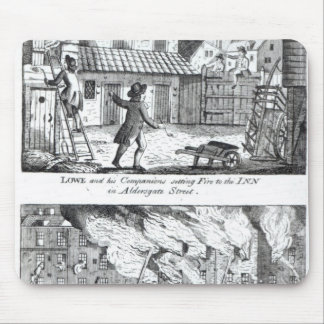 Edward Lowe and his companions setting fire Mouse Pad
