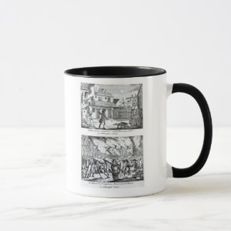 Edward Lowe and his companions setting fire Mug