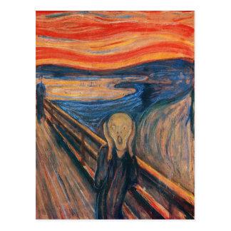 Edward masca el grito tarjeta postal