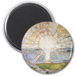 Edward masca la pintura del arte imán redondo 5 cm