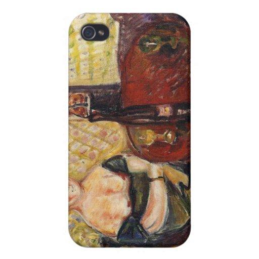 Edward masca la pintura del arte iPhone 4 funda