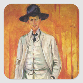 Edward masca la pintura del arte pegatina cuadradas personalizadas