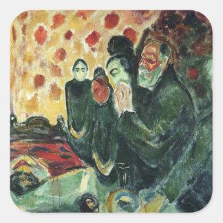 Edward masca la pintura del arte colcomania cuadrada