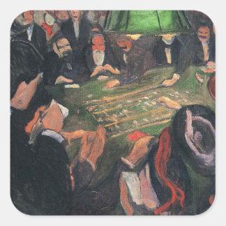 Edward masca la pintura del arte calcomania cuadrada personalizada
