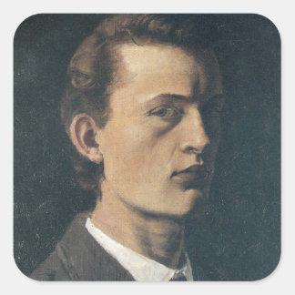 Edward masca la pintura del arte colcomanias cuadradas personalizadas