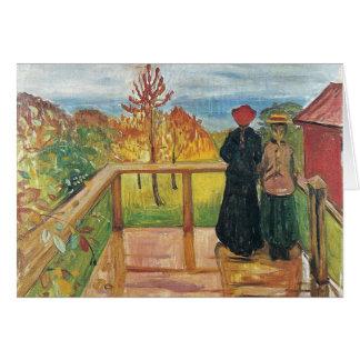 Edward masca la pintura del arte tarjeta de felicitación