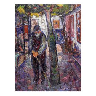 Edward masca la pintura del arte tarjeta postal