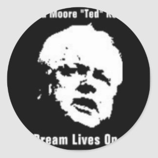 """Edward Moore """"Ted"""" Kennedy Round Stickers"""