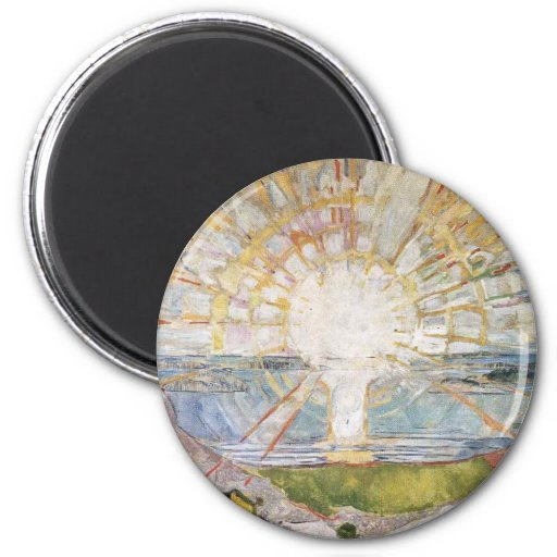 Edward Munch Art Painting 2 Inch Round Magnet