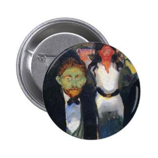 Edward Munch Art Painting Button