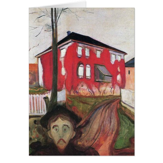 Edward Munch Art Painting Card
