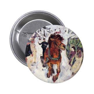 Edward Munch Art Painting Pinback Button