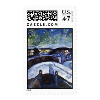 Edward Munch Art Painting Postage