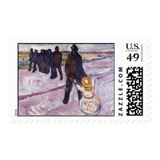 Edward Munch Art Painting Postage Stamp